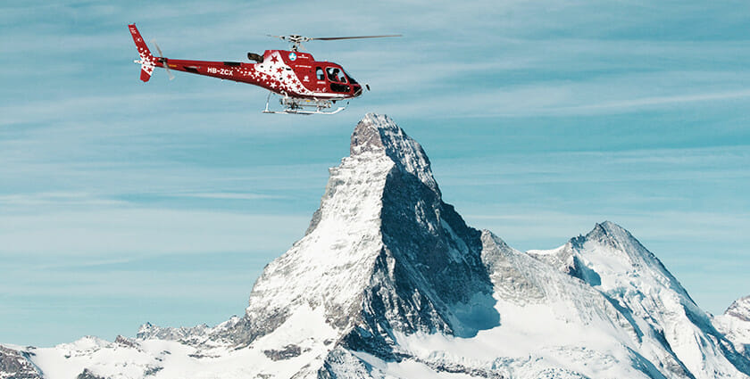 Zermatt is one of the few places still offering heliskiing in Europe. | Photo: Air Zermatt