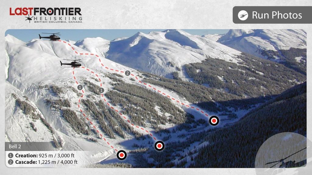 Last Frontier Heliskiing - Creation & Cascade Run Map