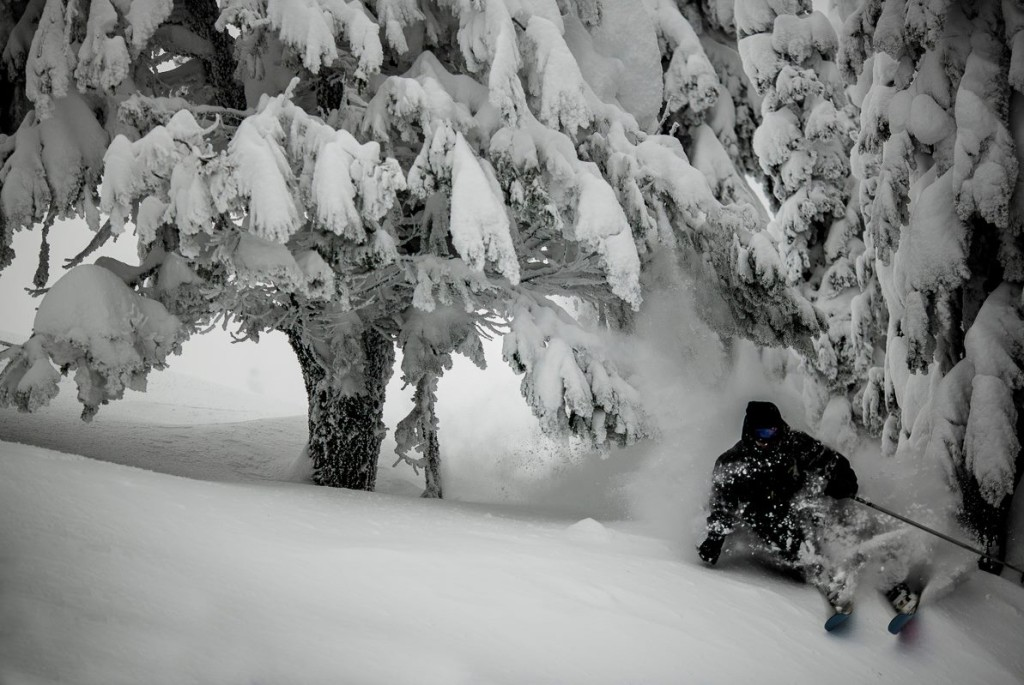 Glenn Anderson of Skevik Skis testing his work... Photo - Matthew Butterworth