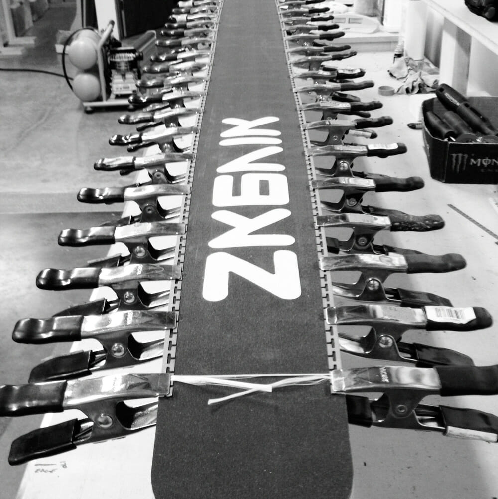 Deep into the manufacturing process Photo - Skevik Skis