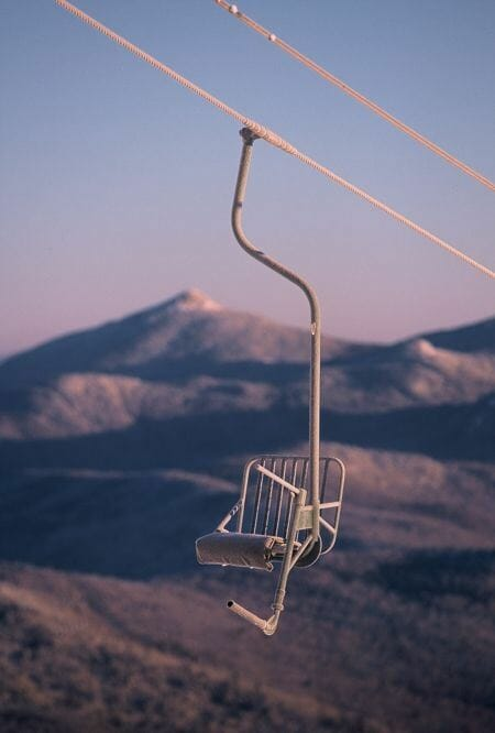 Truly alone...one of the only single chairlifts left.  Mad River Glen, Vermont.  Photo - UnofficialNetworks.com