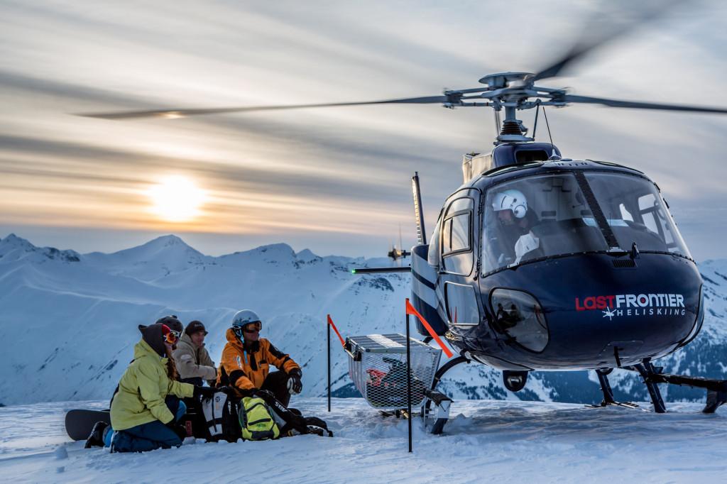 Heli Skiing Alpine Landing