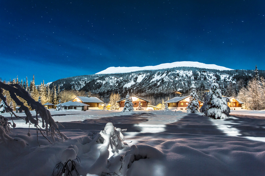 Bel 2 Lodge. Remote, cozy and in the middle of the some of the best skiing in BC.  Photo - Steve Rosset
