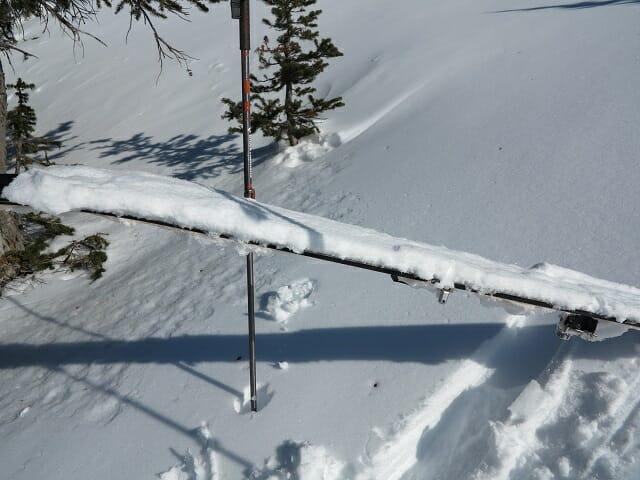 Caked ski touring skins Vince Shuley