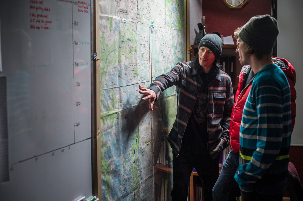 Early morning discussions on where to ski.  Photo - Blake Jorgenson