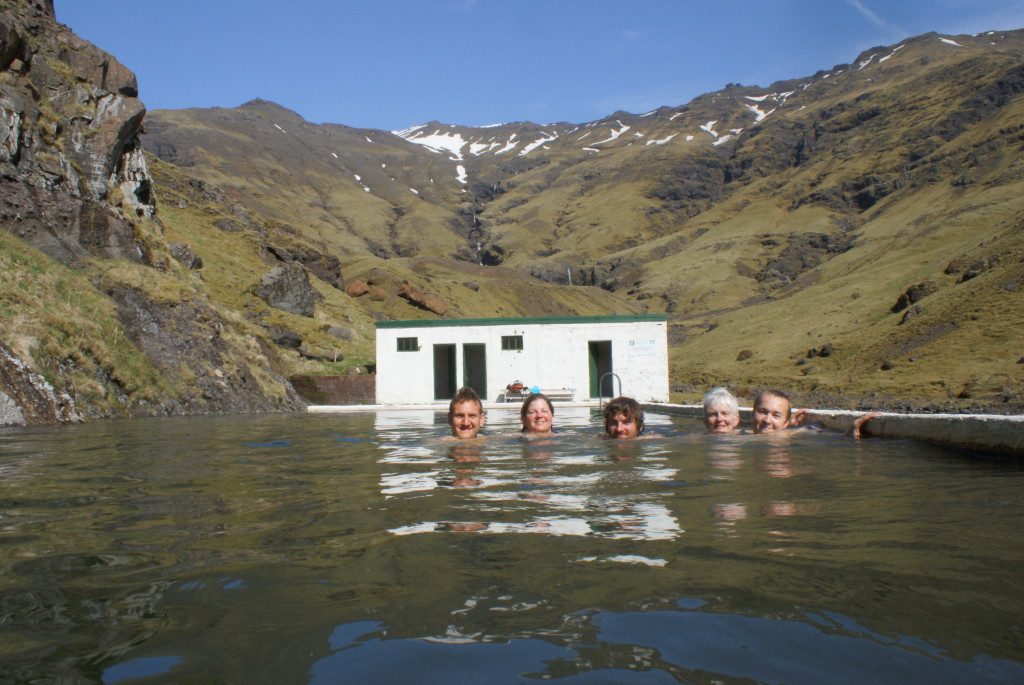 Swimming in an abandoned swimming pool in Iceland, heated by spring. Although it was gorgeous, it was slimy. Iskut is clear and clean, a rarity in the hot spring world | Liam Harrap