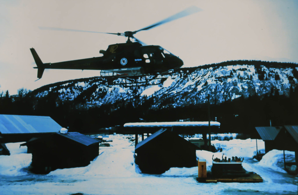 Hot tub party fly-by at Bell 2 Lodge | Last Frontier Archives