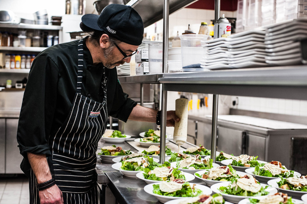 One of our chefs delivering the healthy (and delicious) goods | Dave SIlver