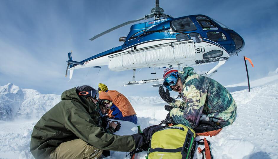 The Redbull Crew at Last Frontier Heliskiing Photo - Scott Serfas