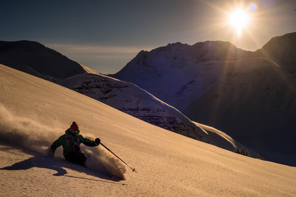Nevertheless there are perks being so remote - The skiing doesn't get much better | Photo - Reuben Krabbe