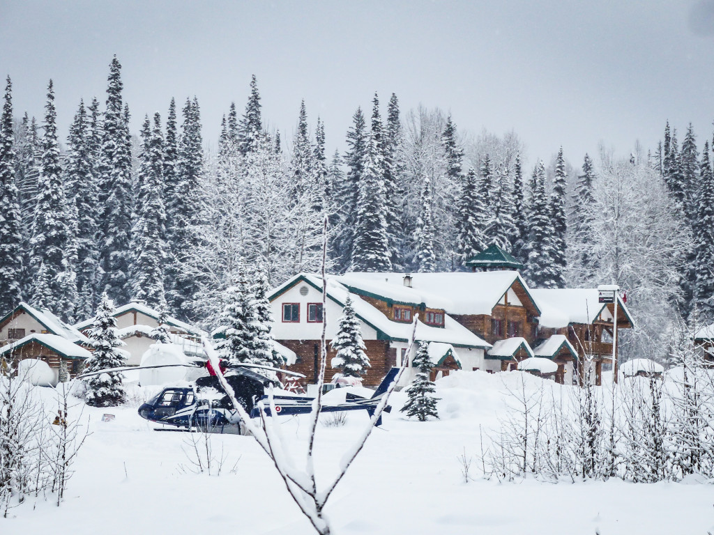 Winter at Bell 2 Lodge in Northern BC on the Stewart Cassiar Highway