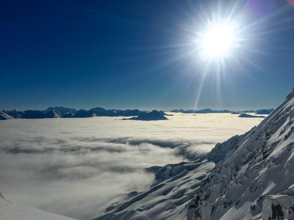 Perched above the clouds. Photo: Jonny Simms
