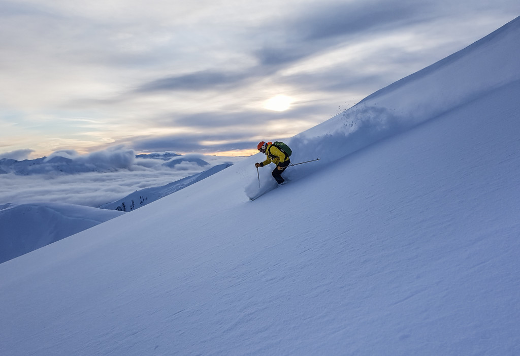 Silky, light snow last week at Bell 2.  Photo - Cliff Umpleby
