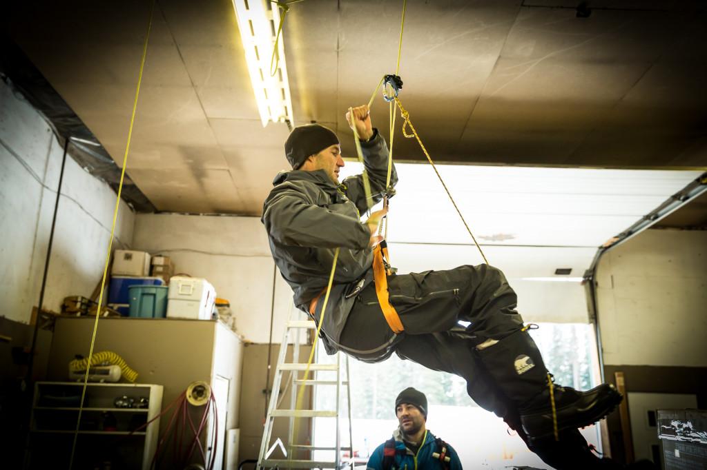Ropeguns hard at work. Photo - Steve Rosset