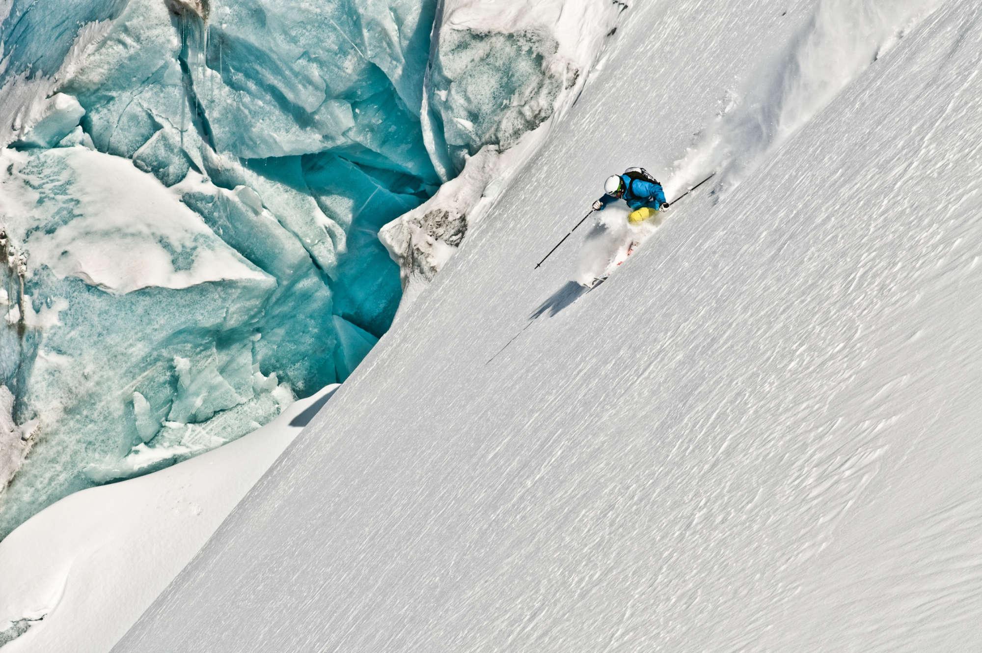 glacier skiing in Canada