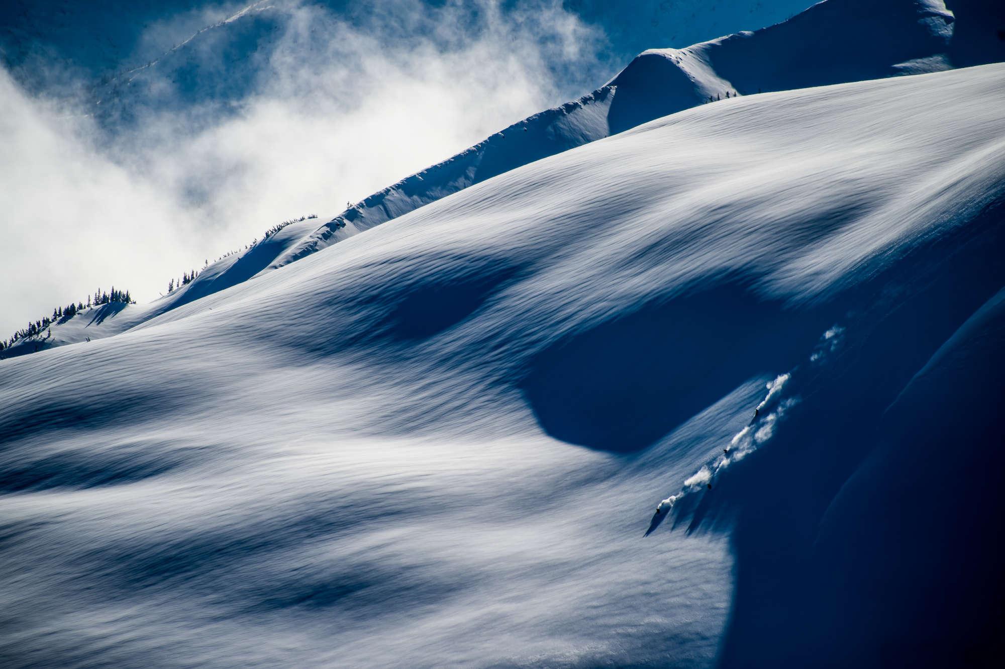 big alpine ski lines in British Columbia