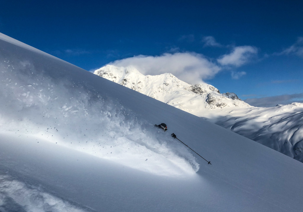 Our lead guide, Andre Ike, running hot in the alpine last week at Ripley Creek. Photo - Andre Ike