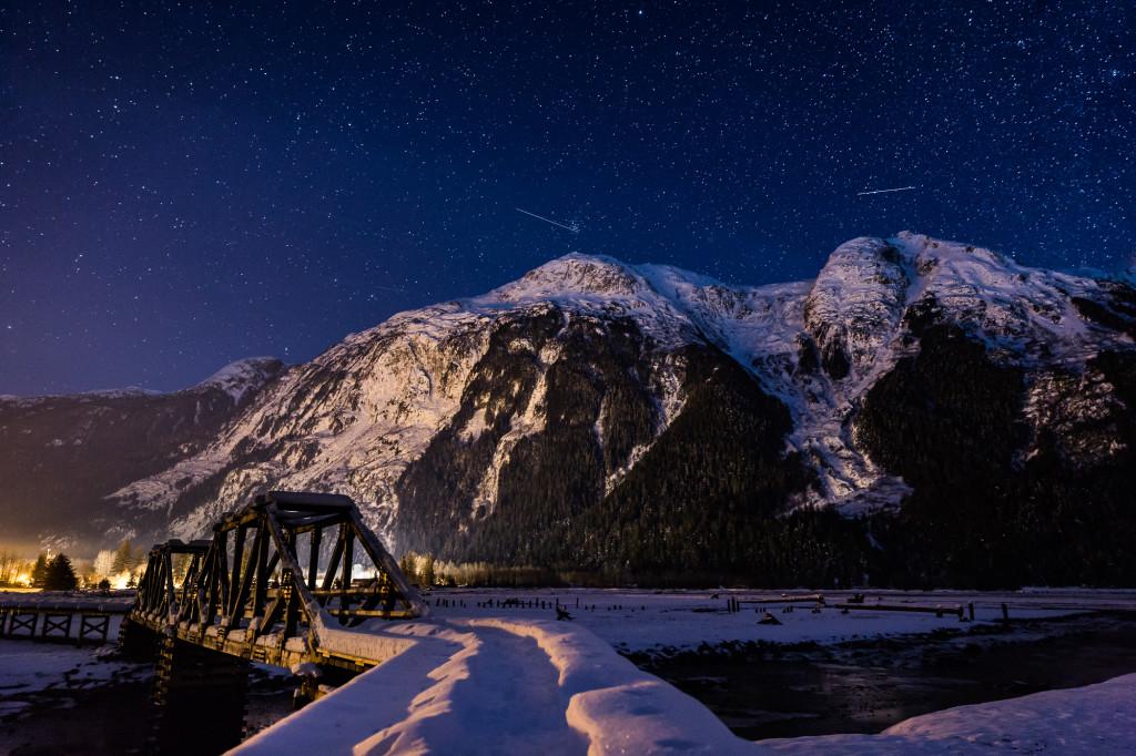 Night time in Stewart. Photo - Steve Rosset