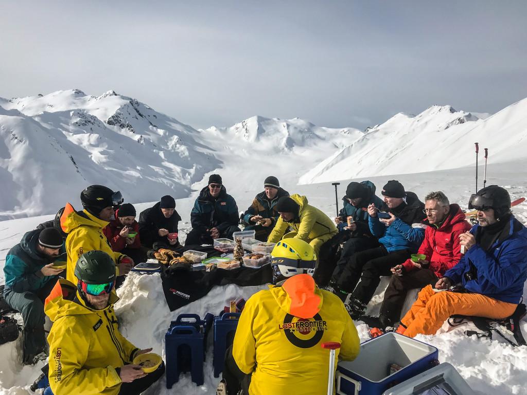 High alpine lunch. Photo - Scott McReynolds