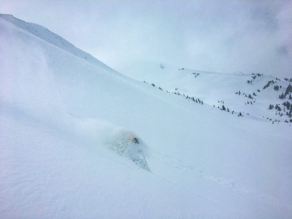 It's not all deep turns and big smiles. Except last week. Last week was pretty much this...every day. Photo - Dani Serra