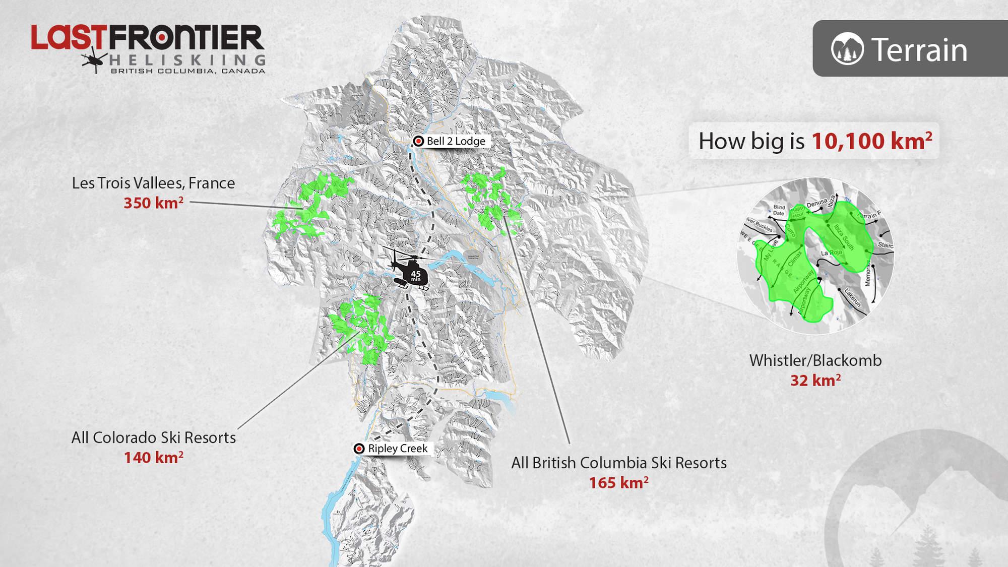 3 Heli Skiing Terrain Size