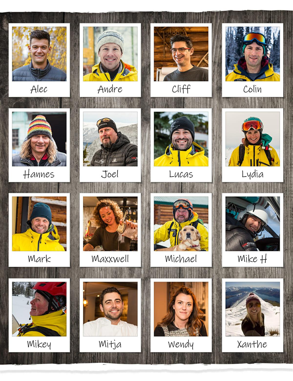 last frontier heli skiing crew