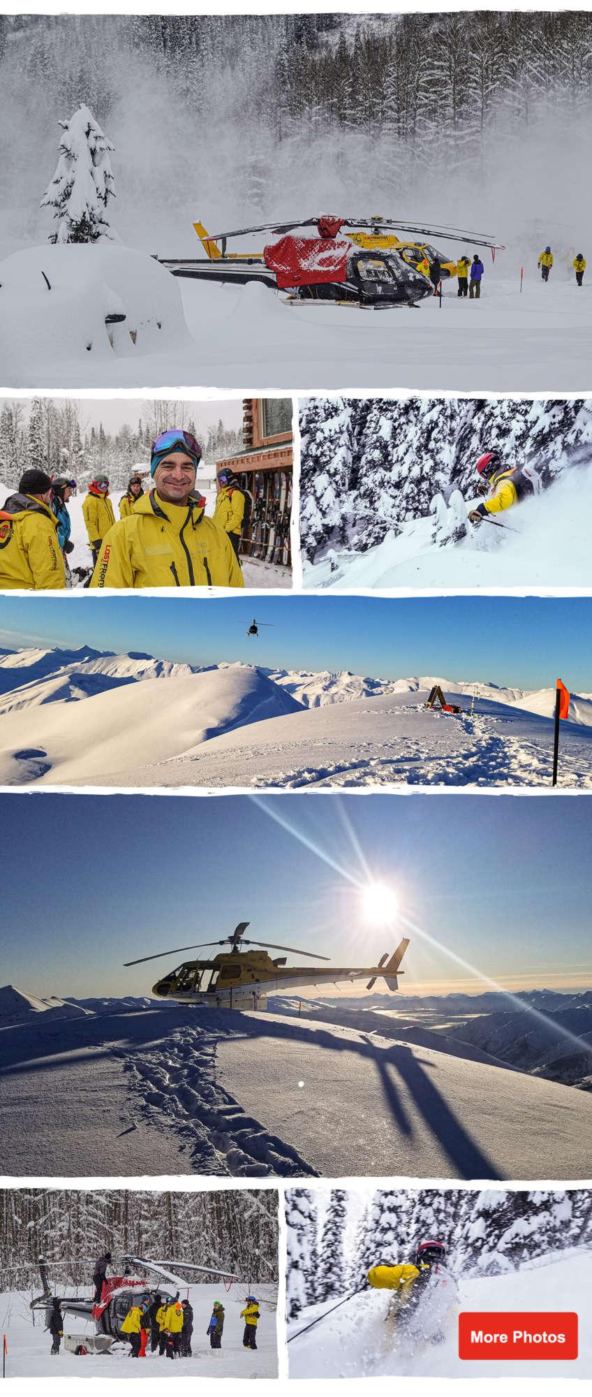 heli skiing guide training in Canada