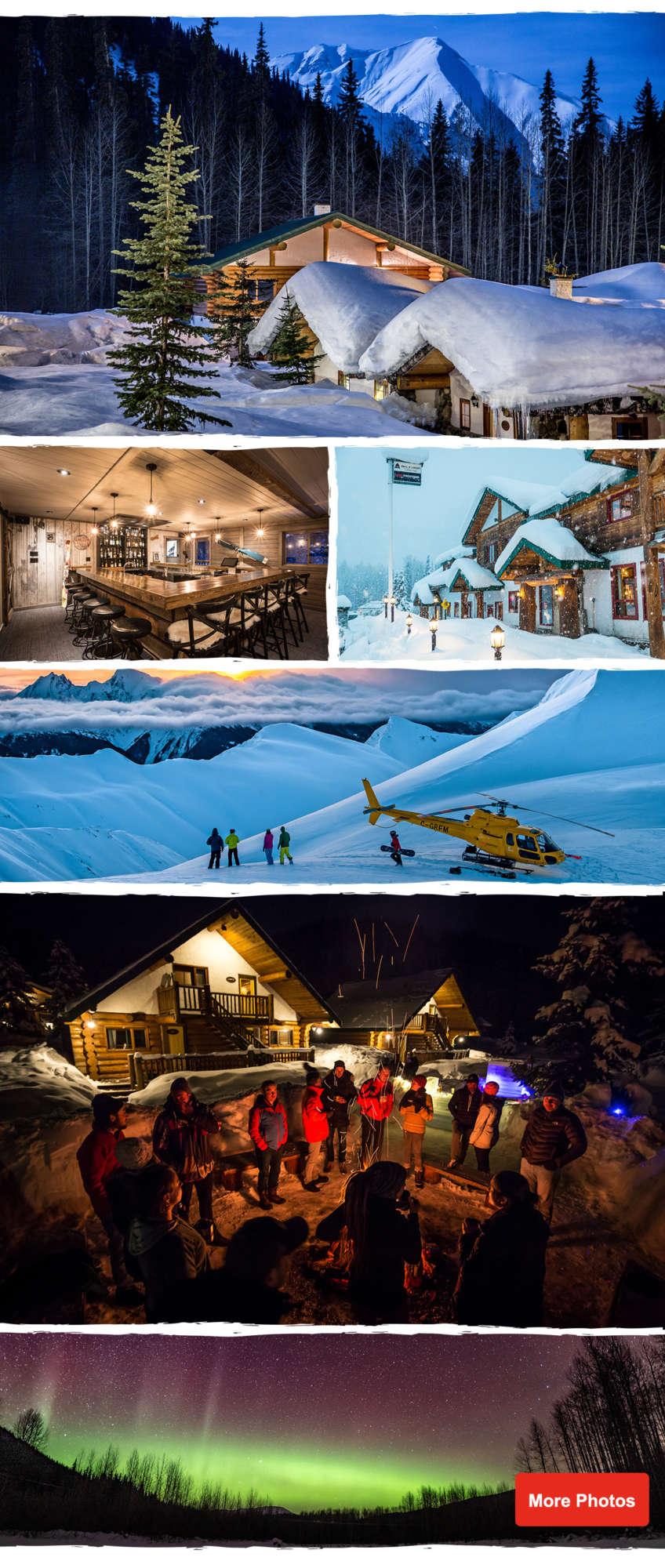 Heliski Village in BC Canada Heli Skiing Lodging