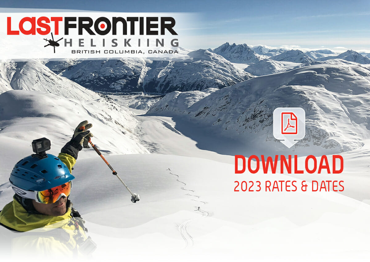 2023 Heli Skiing Rates &Amp; Dates - 2023 Pricing Newsletter Header 2
